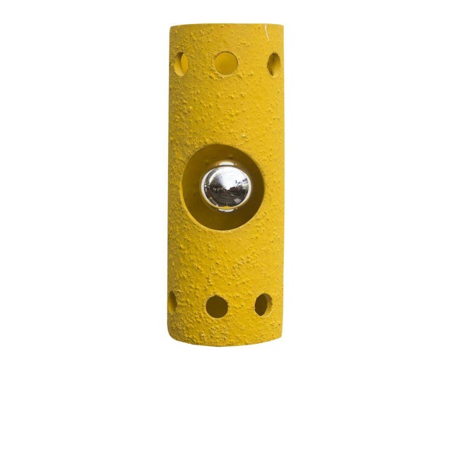 Yellow Ceramic Wall Sconce - Image 1 of 7