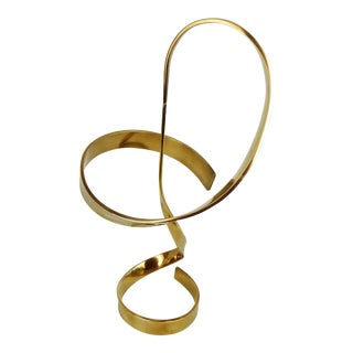 Kinetic Brass Free-Form Sculpture by David Whitehouse For Sale