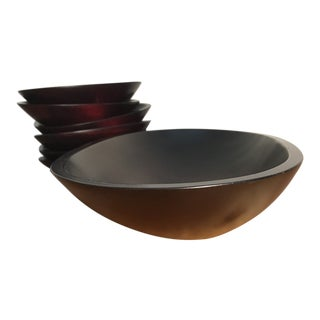 Wood Bowl Set - Set of 7 For Sale