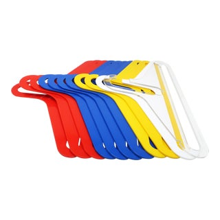1970s Multicolored Plastic Clothes Hangers - Set of 11 For Sale