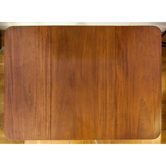 American Federal Drop-Leaf Mahogany Table Set - Image 5 of 7