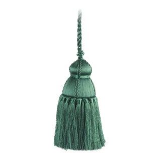 Pyar & Co. Trellis Home Tassel, Dark Green, Medium For Sale