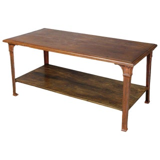 Rustic Late 19th Century French Library, Work or Dining Table For Sale