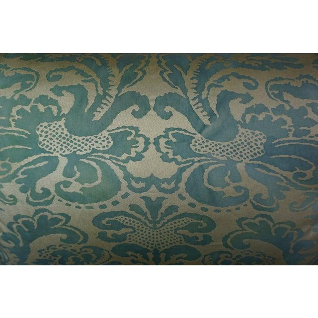 2020s Pair of Italian Venetian Style Green & Gold Pillows For Sale - Image 5 of 7