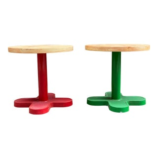 Post Modern Bieffeplast End Tables - a Pair For Sale