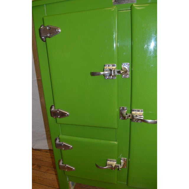 Green Ice Box Refrigerator Bar by Windsor, circa 1920s For Sale - Image 9 of 10
