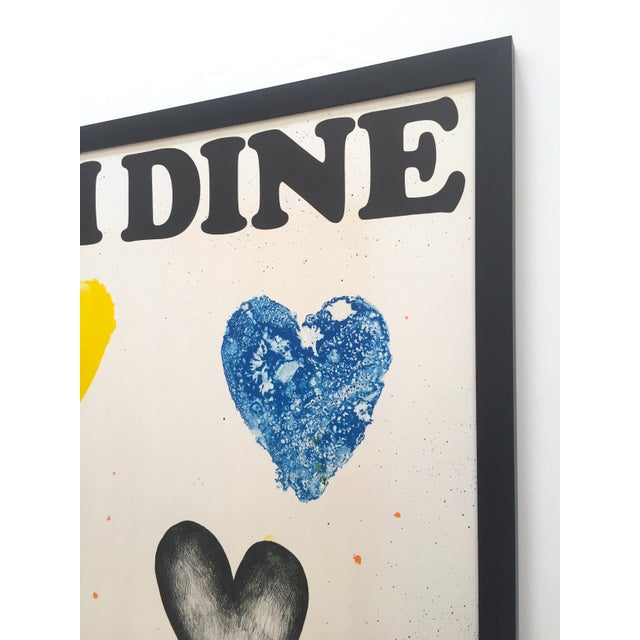 Jim Dine Rare Vintage 1970 Framed Silkscreen Print Whitney Museum Collector's Pop Art Exhibition Poster For Sale - Image 10 of 13