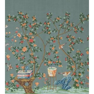 "Casa Cosima Ming Fauna Wallpaper Mural - 2 Panels 72"" W X 84"" H For Sale"