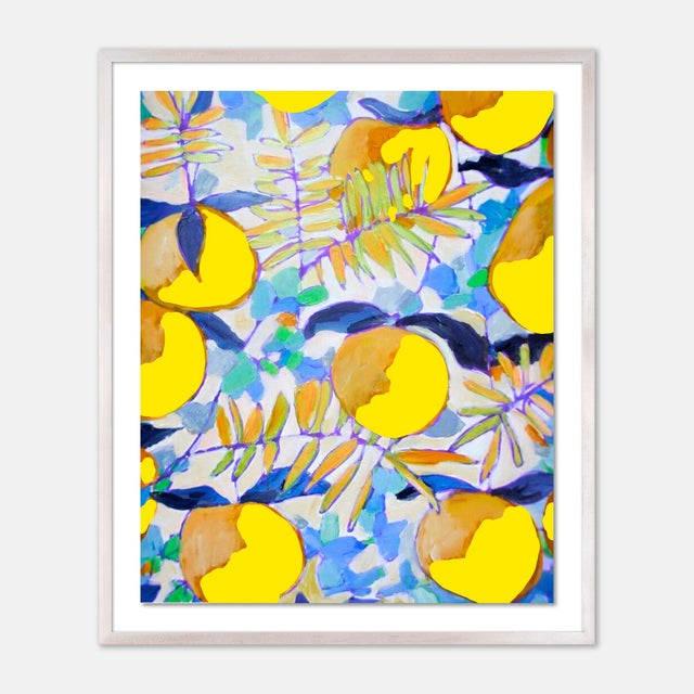 Contemporary Peaches and Cream 1 by Lulu DK in White Wash Framed Paper, Medium Art Print For Sale - Image 3 of 3