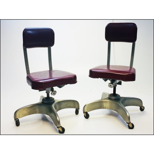 Vintage Industrial Swivel Office Chairs by Emeco - A Pair - Image 13 of 13
