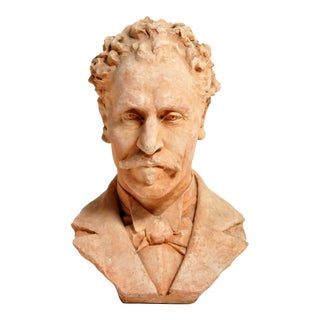 Early 20th Century French Terracotta Bust of a Gentleman For Sale