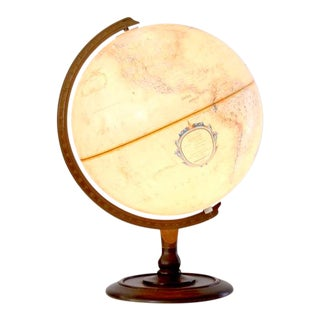 Vintage Illuminated Globe For Sale