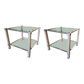 Pair of Pierre Vandel Side Tables For Sale