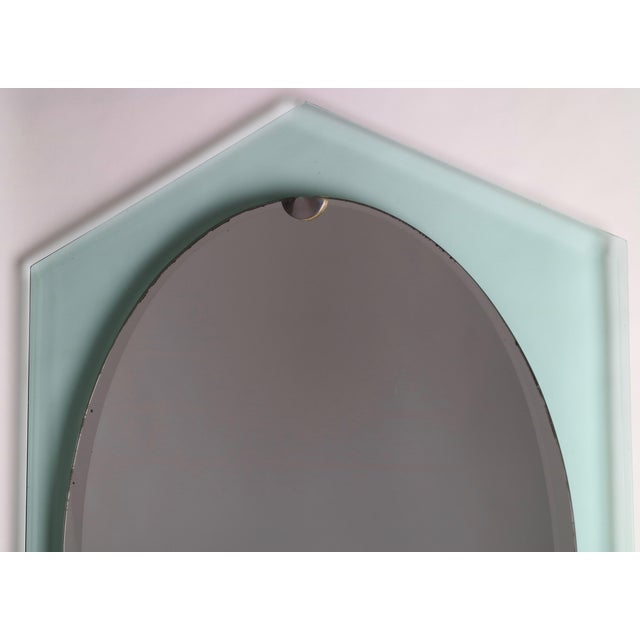 Glass Fontana Arte Italian Mid Century Mirror For Sale - Image 7 of 9