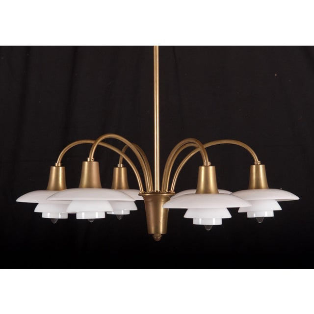 Traditional Bombardment Chandelier by Poul Henningsen for Louis Poulsen, 1930s For Sale - Image 3 of 8