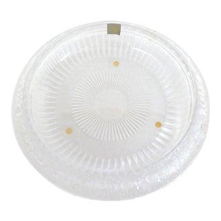 1970s Lalique Crystal Marguerites Centerpiece Bowl For Sale