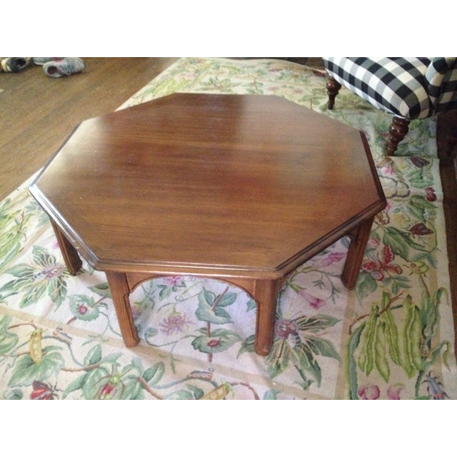Wooden Octagon Shape Coffee Table - Image 2 of 7
