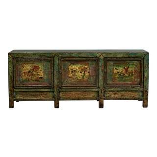 Antique Chinese Painted Sideboard/Cabinet For Sale