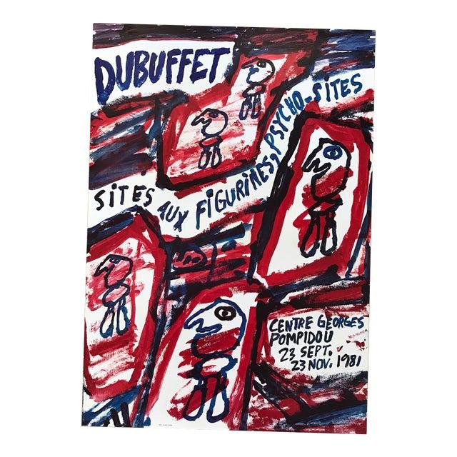 1981 Jean Dubuffet Centre Georges Pompidou Exhibition Poster For Sale