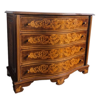 1980s Italian Marquetry Chest With Drawers For Sale