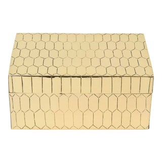 Brass Snakeskin Textured Hinged Box Vintage For Sale