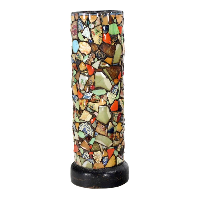 Mosaic Heavy Pottery Cane or Umbrella Stand - Image 1 of 10