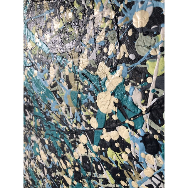 Original Abstract Acrylic Painting on Canvas For Sale In West Palm - Image 6 of 6