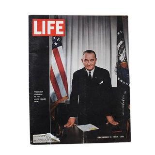 1960s Vintage Life Magazine President Johnson December 1964 For Sale