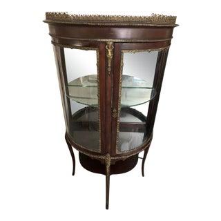 French 19th Century Art Deco Ormolu Curio Cabinet For Sale