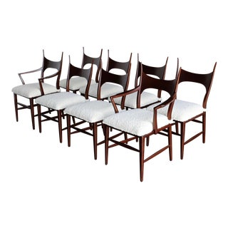 1950s Vintage Edward Wormley for Dunbar 5580 Dining Chairs- Set of 8 For Sale