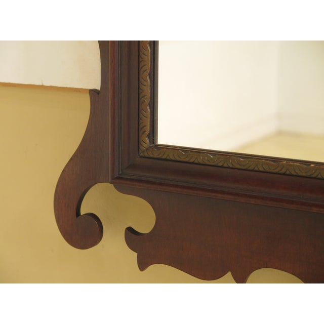 Kindel Vintage Mahogany Chippendale Wall Mirror For Sale - Image 5 of 11