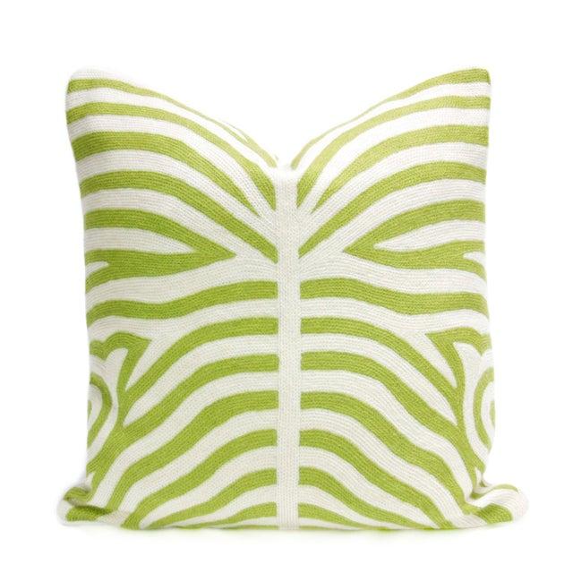 Kashmiri Native Green Zebra Pillow - Image 1 of 3