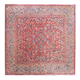 Early 20th Century Square Sarouk Rug For Sale