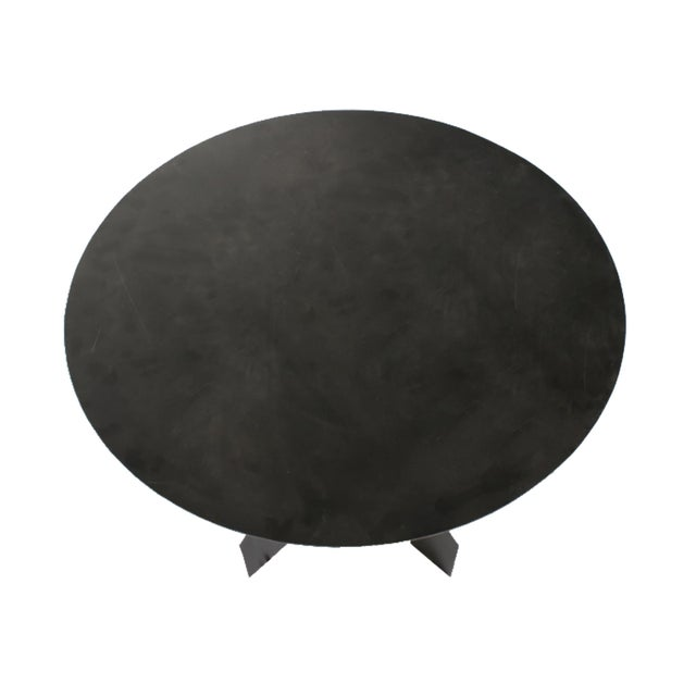 Modern Steel Round Table For Sale In Chicago - Image 6 of 8