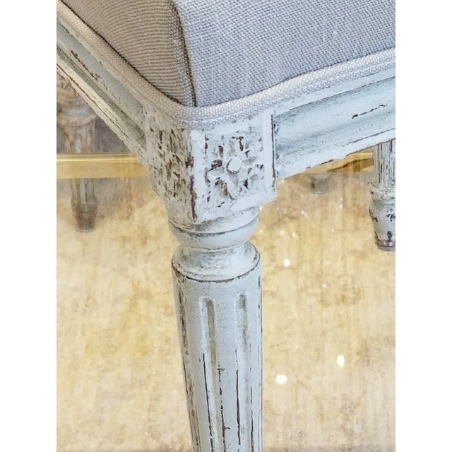 Set of 10 Louis XVI Style Dining Chairs For Sale - Image 4 of 8