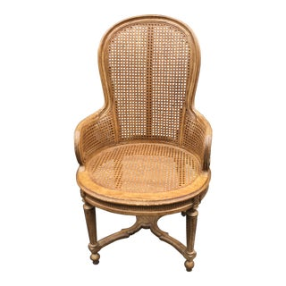 Interior Crafts Louis XVI Style Double Caned Chair 1 of 4