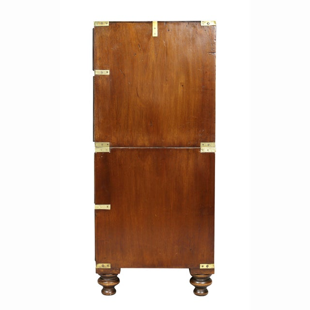 Victorian Campaign Mahogany Military Chest For Sale - Image 9 of 11