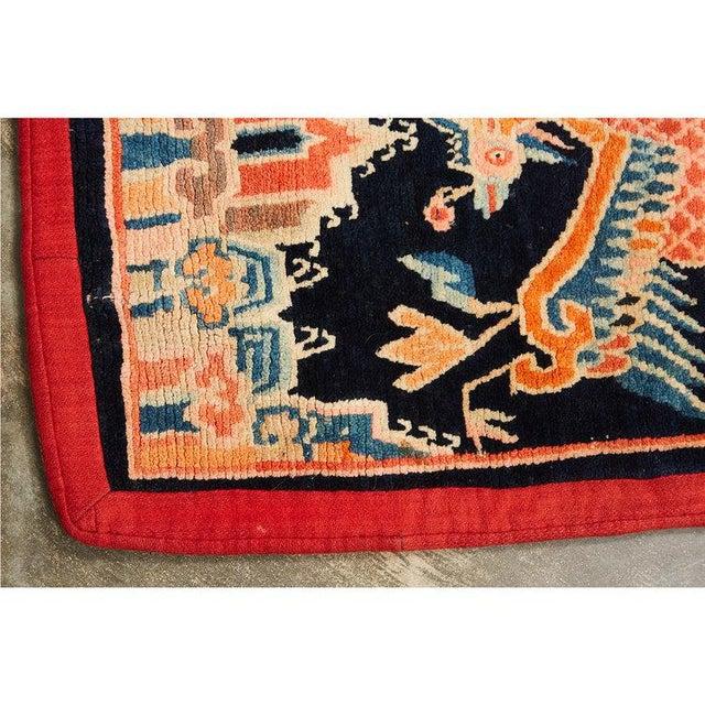 Antique Tibetan Woolen Saddle Blanket For Sale - Image 4 of 6
