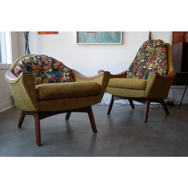 Mid-Century Modern Adrian Pearsall His and Hers Lounge Chairs - Pair For Sale - Image 3 of 6