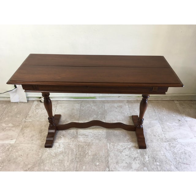 American Classical English Traditional Walter Company Slide Table or Desk For Sale - Image 3 of 13