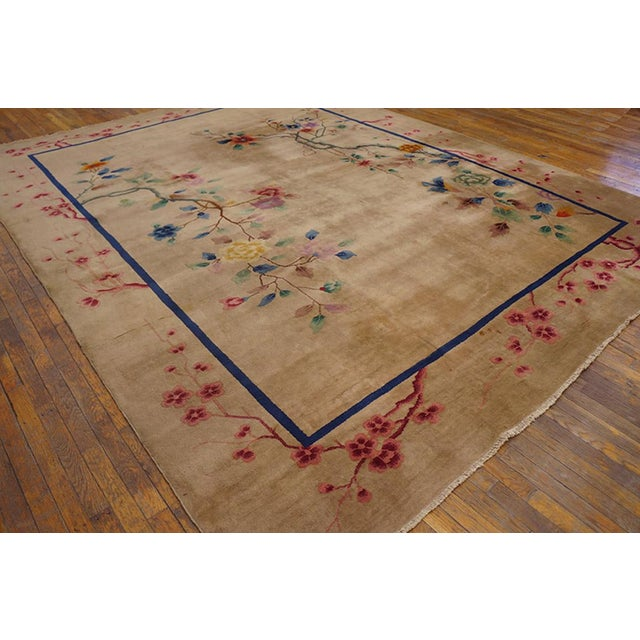 1920s Antique Chinese Art Deco Rug-9′ × 11′9″ For Sale - Image 4 of 6
