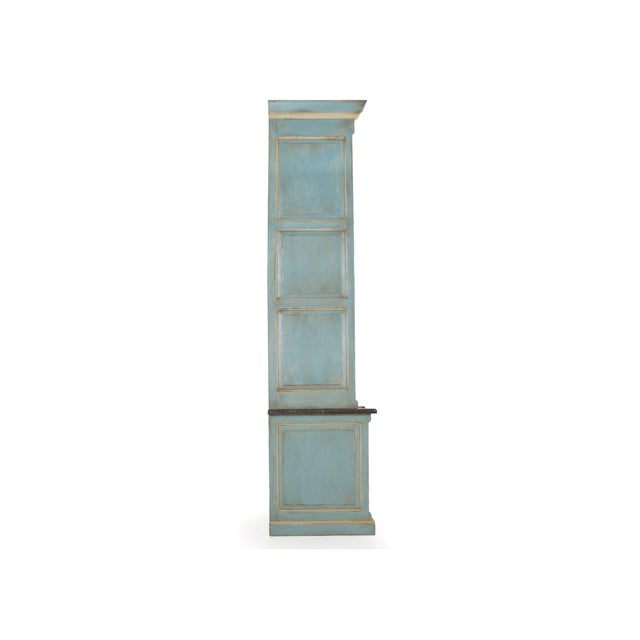 Early 21st Century Swedish Gustavian Style Blue Painted Bookshelf Cabinet Bookcase by Lillian August For Sale - Image 5 of 13