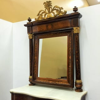 Spanish Empire Console Table With Mirror in Mahogany, Circa 1810 Preview