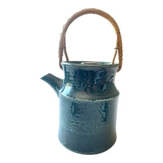 """Scandinavian Stoneware Teapot """"Plaza"""" by Carl-Harry Stalhane for Rorstrand For Sale"""