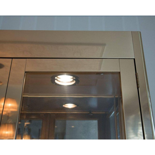 Pair Of Stellar Brass Glass Mastercraft Cabinets Chairish