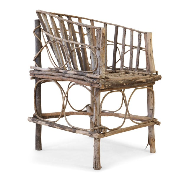 Folk Art Antique French Twig Chair For Sale - Image 3 of 13