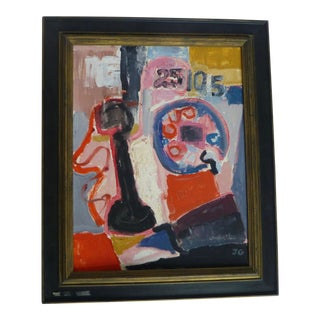 Telephone: An Abstract Painting by Jean Gunther