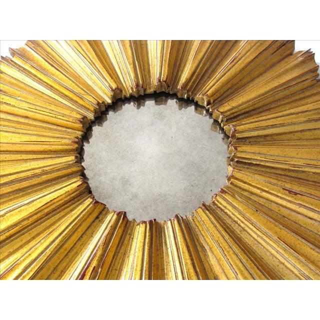 Round Gilded Sunburst Mirror - Image 4 of 7