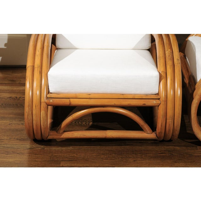 Pair of 1950s Restored Pretzel Loungers For Sale - Image 4 of 13