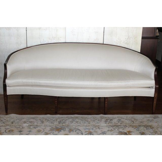 Henredon Baltimore Rounded Back Cream Silk Sofa - Image 2 of 5